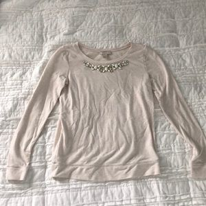Loft Cream Jewel neck sweater
